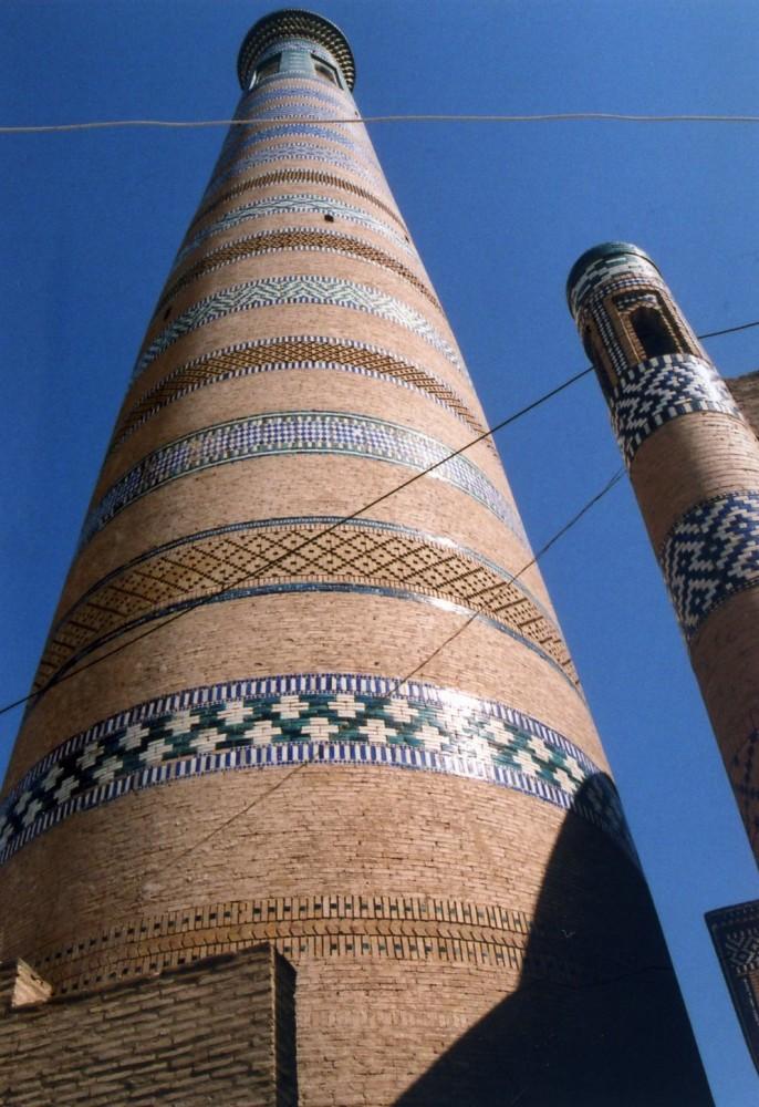 イスラーム・ホジャ・メドレセのミナレット