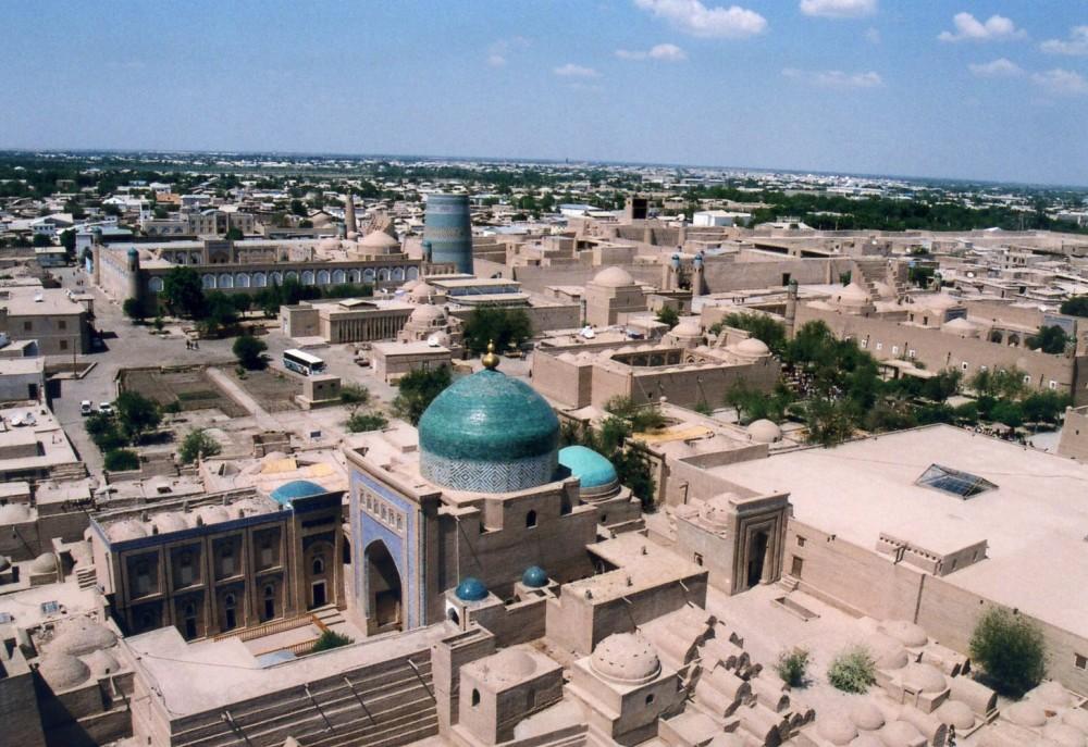 イスラーム・ホジャ・メドレセのミナレット頂上からの眺め【ウズベキスタン(ヒヴァ)】