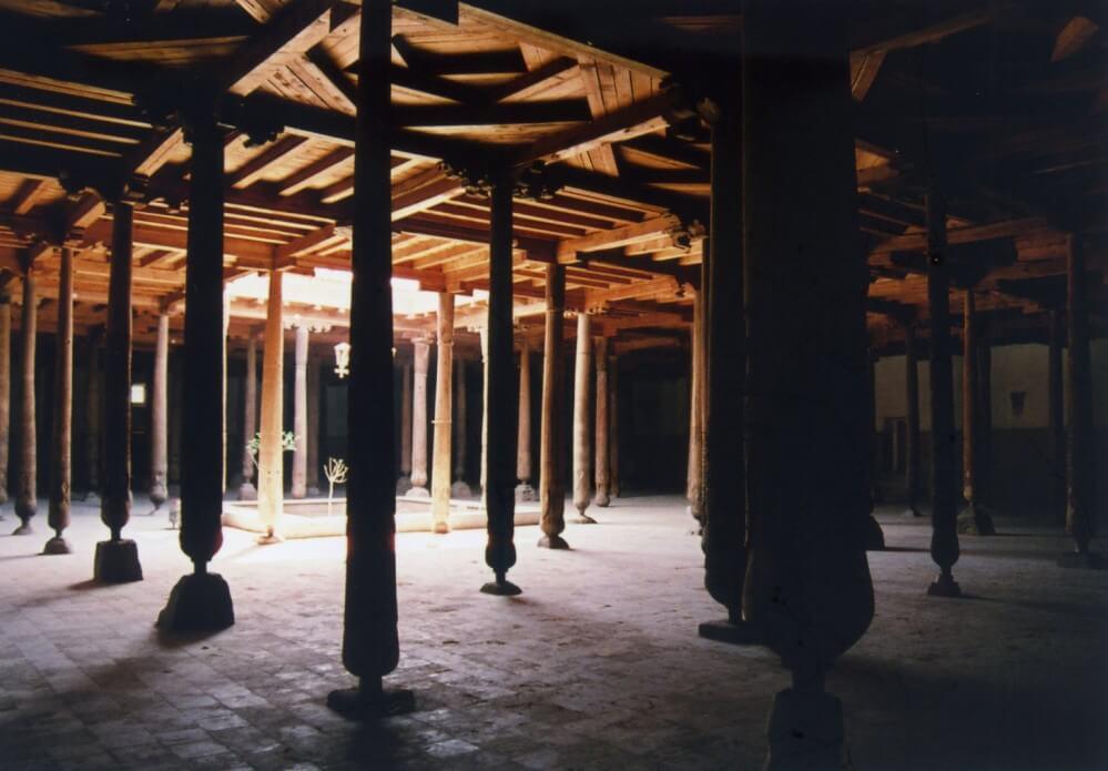 ジュマ・モスクの列柱礼拝室【ウズベキスタン(ヒヴァ)】