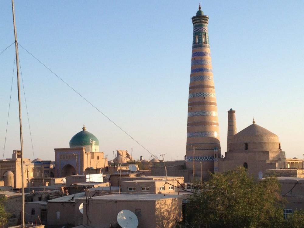 イチャン・カラの朝。宿の屋上から【ウズベキスタン(ヒヴァ)】