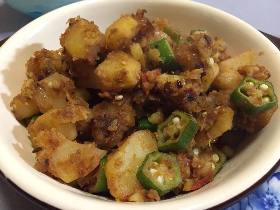 【レシピ】インド料理、じゃがいもとオクラのサブジを作りました!