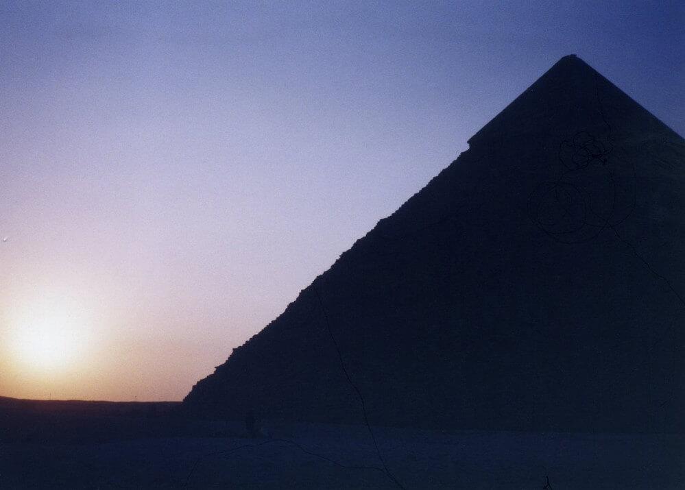 ギザの夕陽