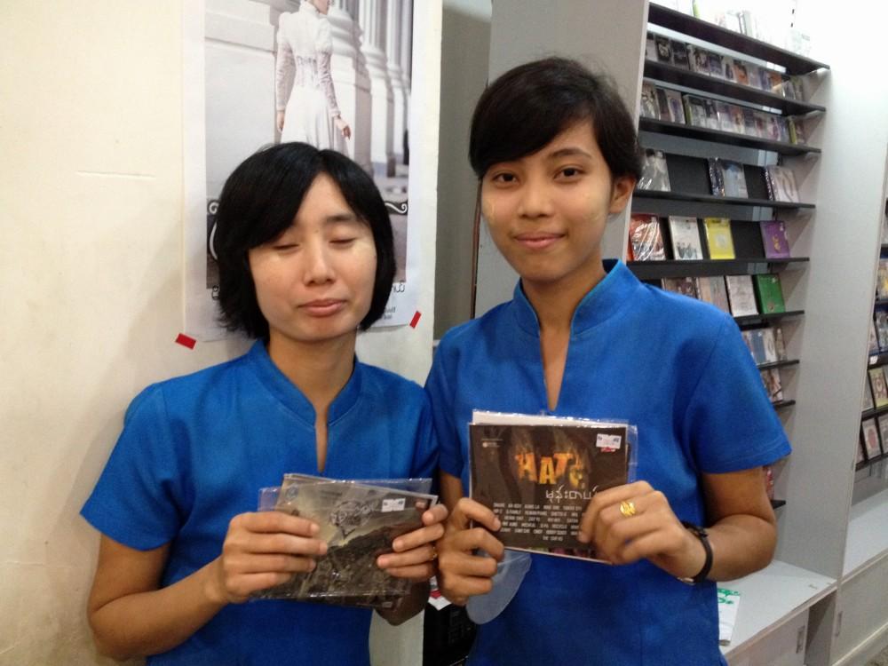 (GMP)のCD屋で女の子たちにお勧めCDを教えてもらう 【ヤンゴン】