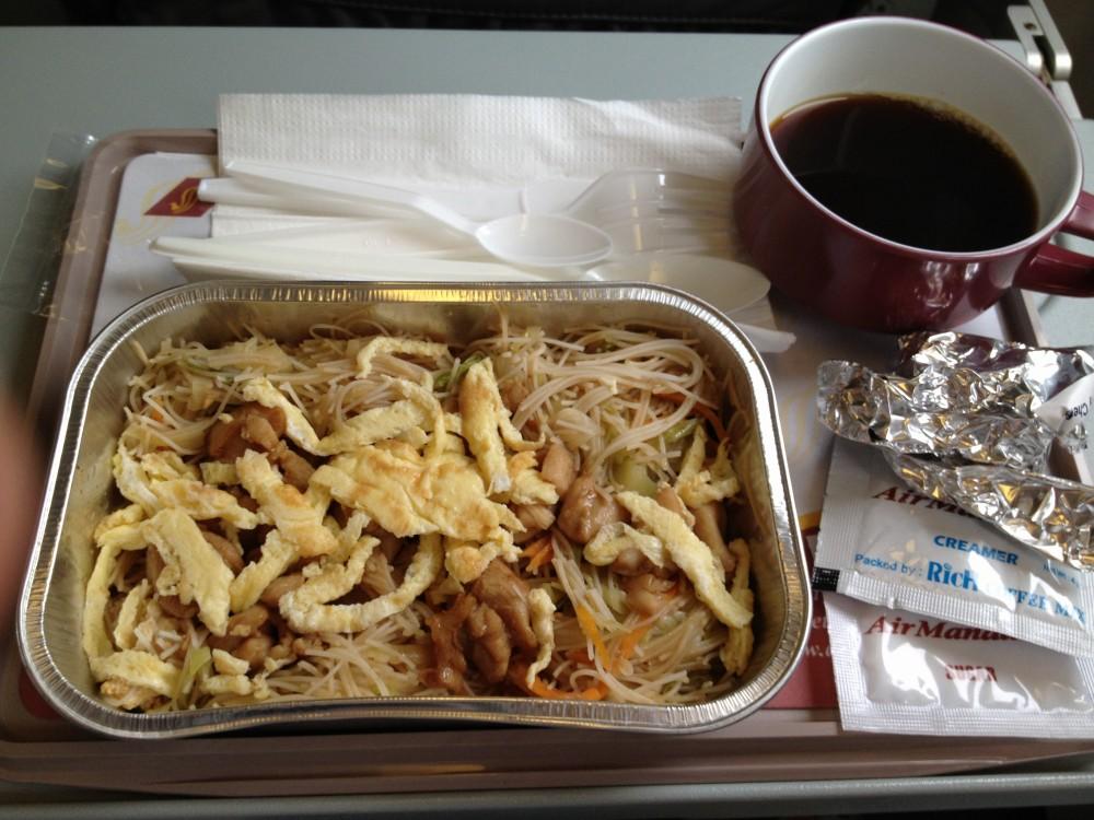 エアマンダレー機内食