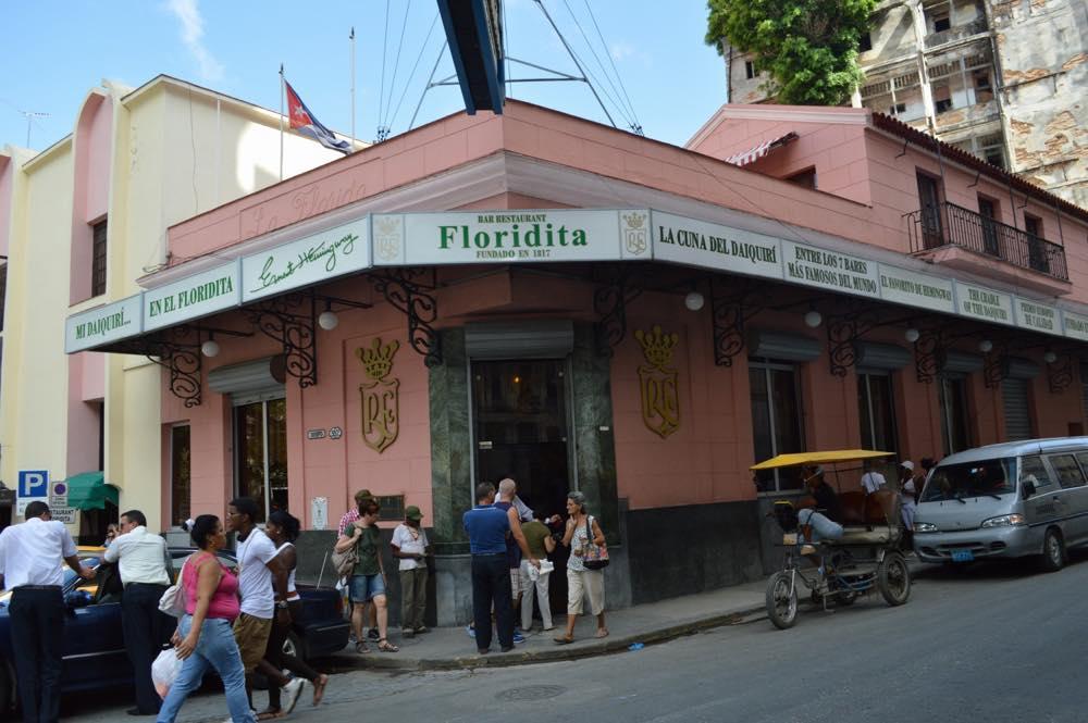 ヘミングウェイ行きつけのバー「フロリディータ」、ダイキリが有名、ハバナ旧市街 【キューバ Cuba】