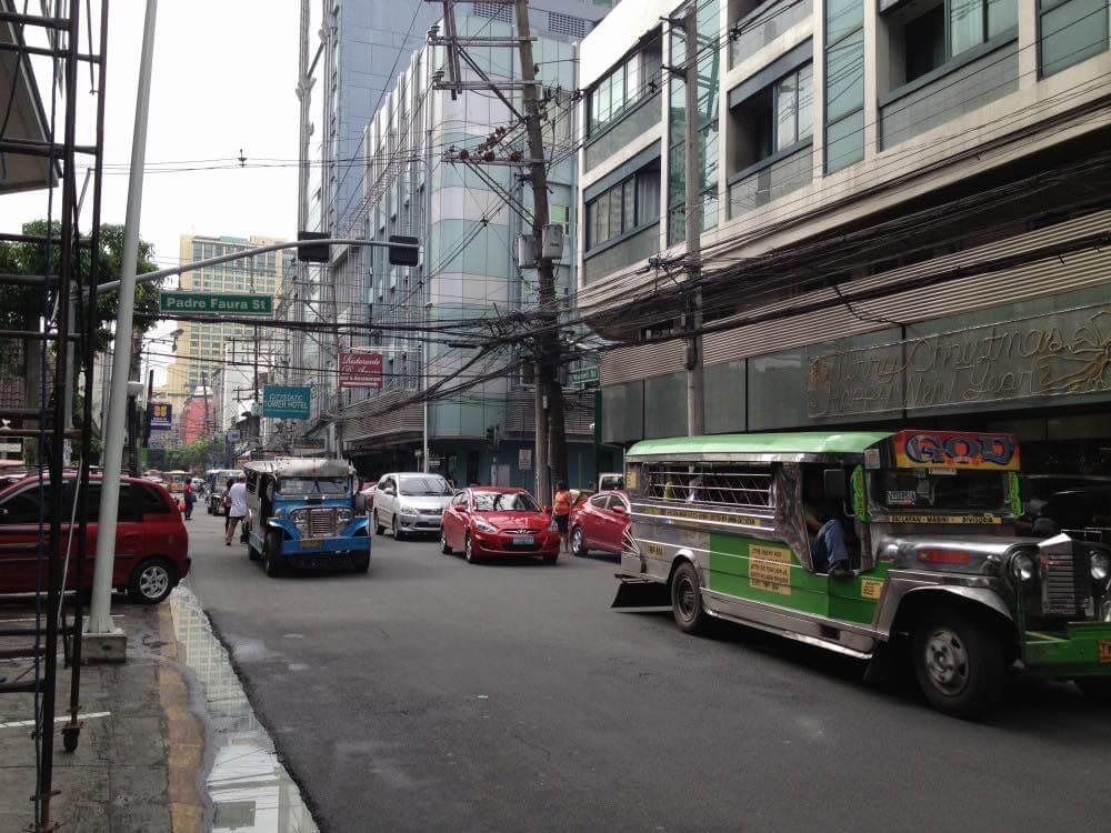 フィリピン、マニラ。マニラ市街の風景