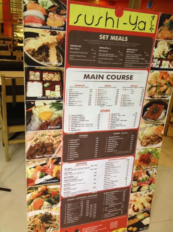 フィリピン、マニラ。寿司屋、ロビンソンモール内