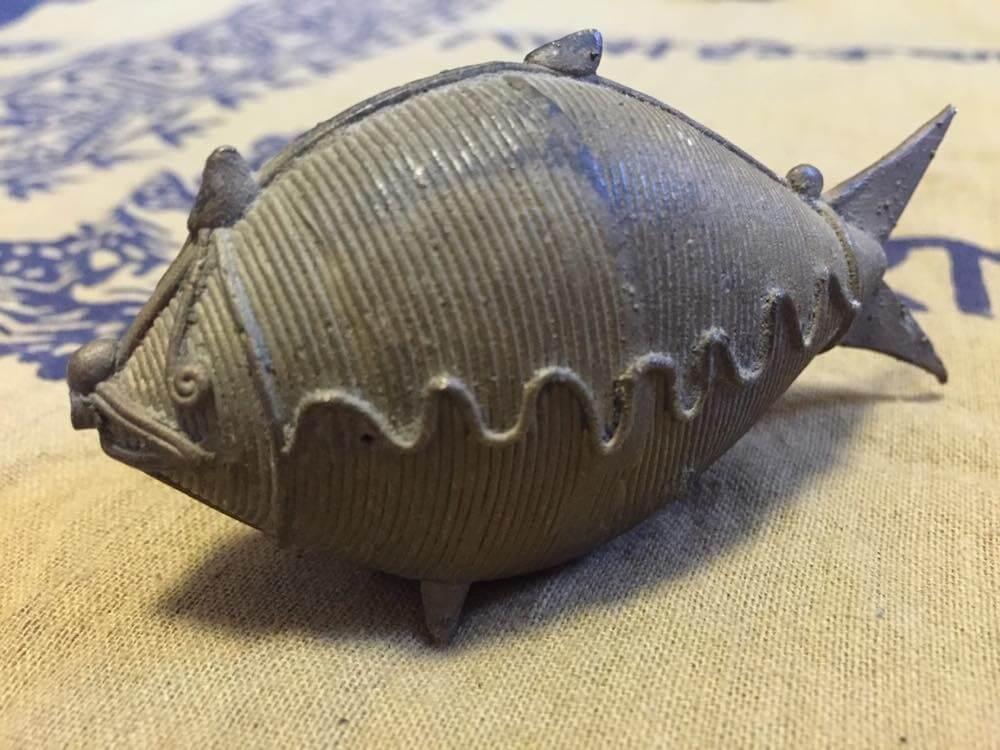 インド、オリッサの真鍮細工の魚【お土産】