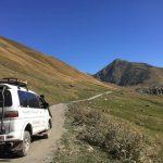 メスティアからウシュグリ村までの道中。4WDで山道を2時間半【ジョージア(グルジア)】