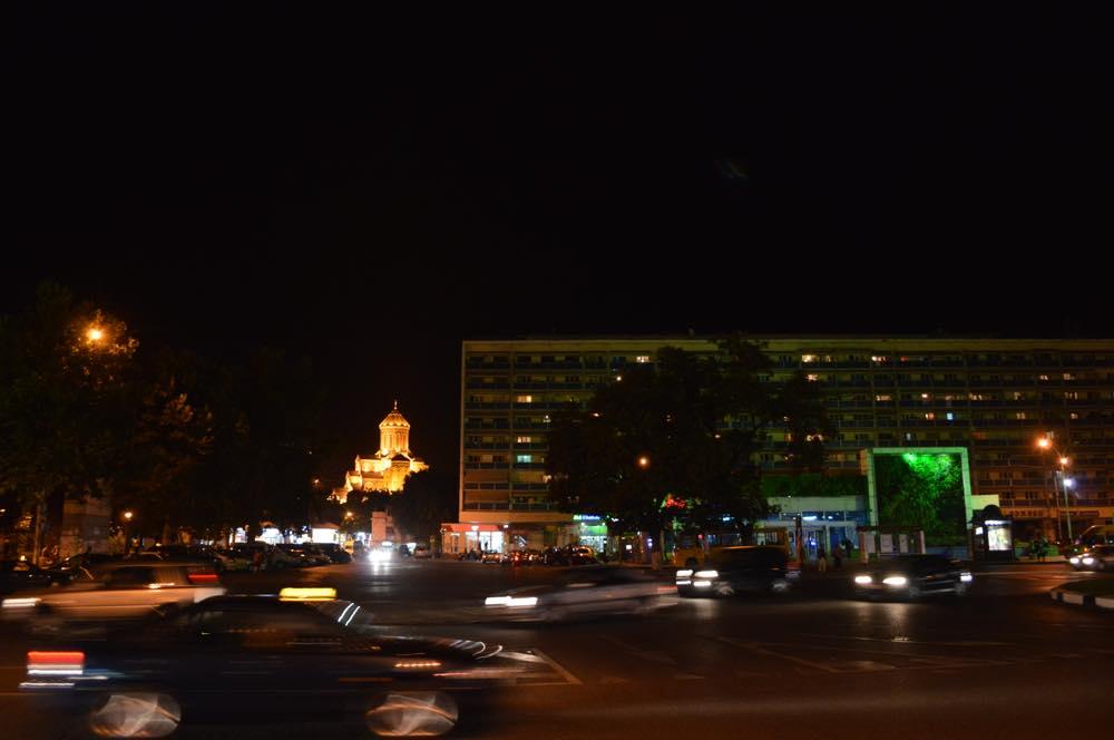 トビリシ、旧市街の夜景【ジョージア(グルジア)Georgia:საქართველო】