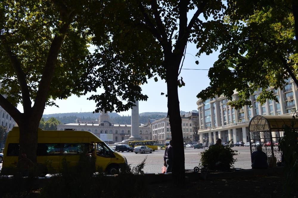 トビリシ、自由広場界隈【ジョージア(グルジア)Georgia:საქართველო】