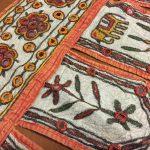 西インド、ラジャスターンやグジャラートのミラー刺繍とパッチワーク布