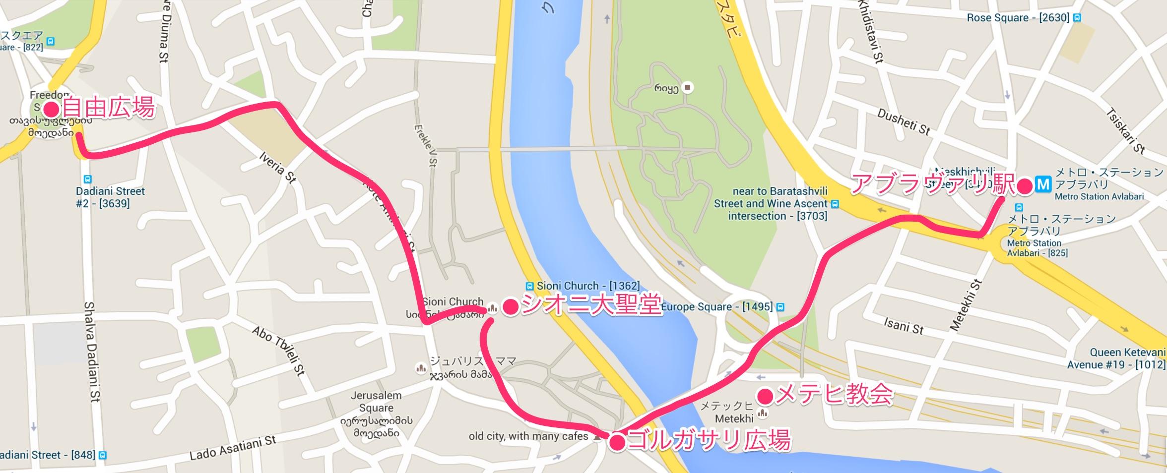 トビリシ地図