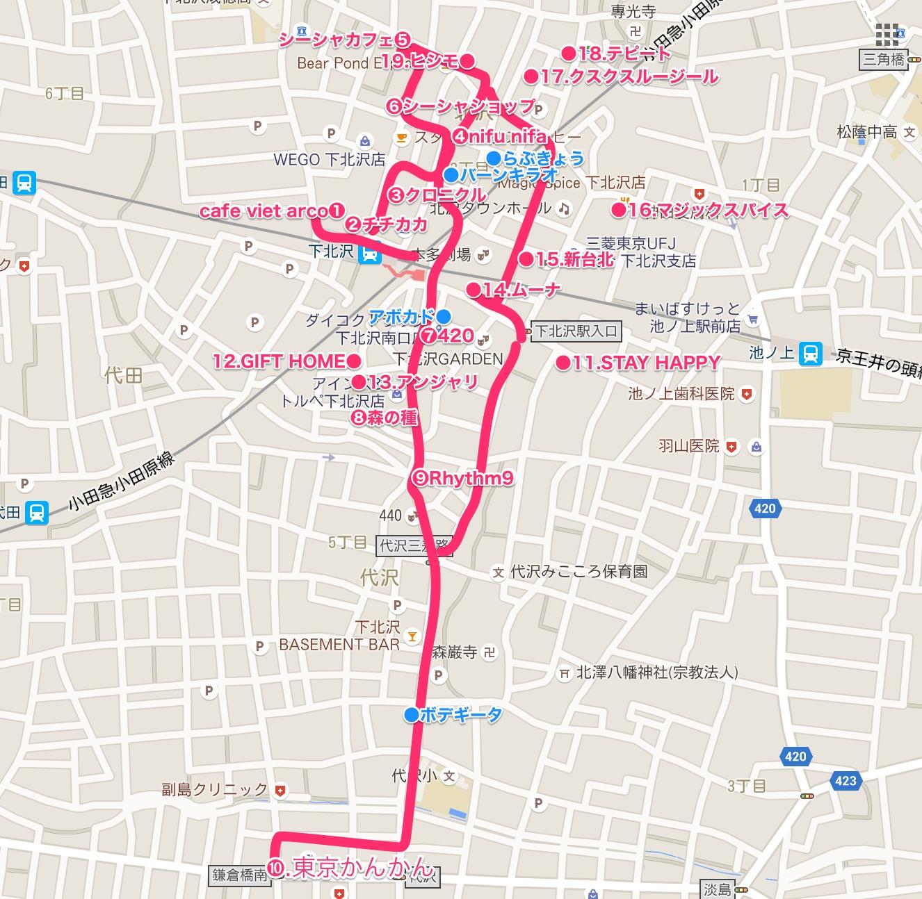 下北沢マップ