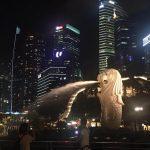 ペニンシュラ・プラザから、夜のボートキーとマーライオンパークへ【シンガポール】