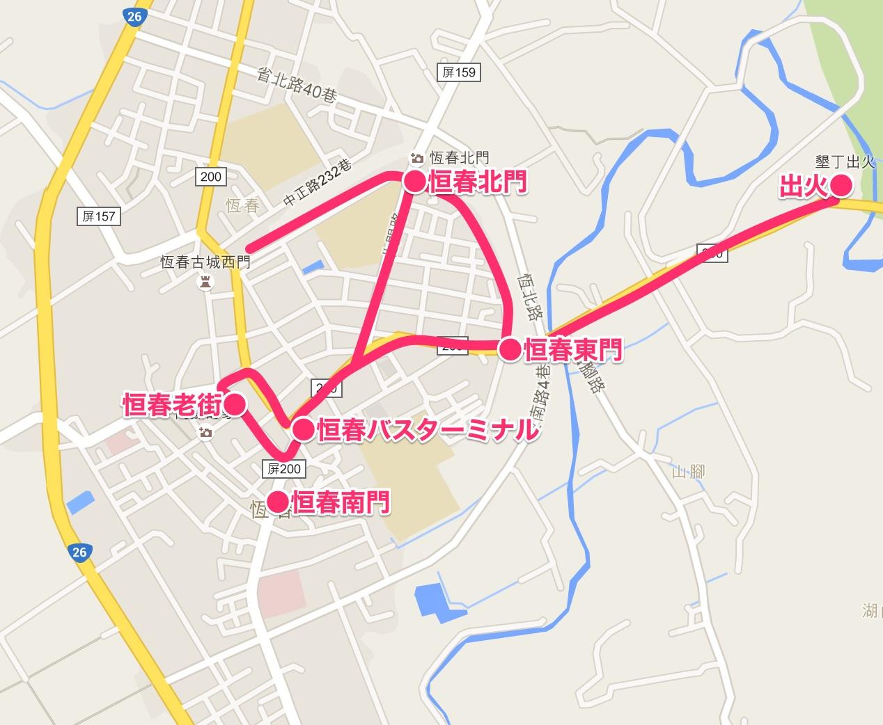 台湾マップ(恒春)
