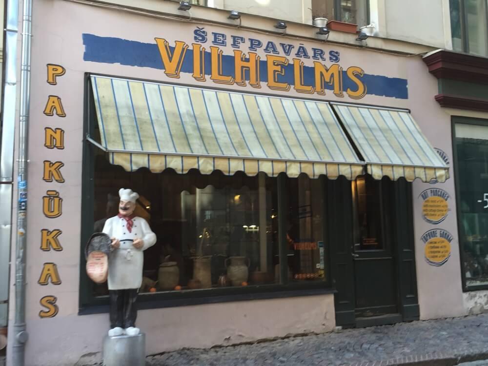 リガのカフェ&バー(シェフパヴァールス・ウィルヘルムス:バルト三国⑦:ラトビア:リガ)