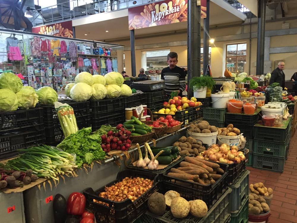 ハレス市場(バルト三国11:リトアニア:ビリニュス)