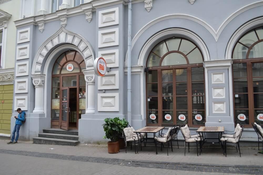 ビリニュスのカフェ&バー(グスト・ブリーニネ:リトアニア:ビリニュス)
