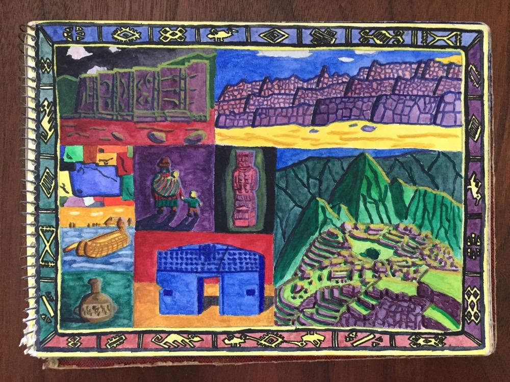 ペルー・ボリビア「アンデス文明の遺跡と文化」【絵】