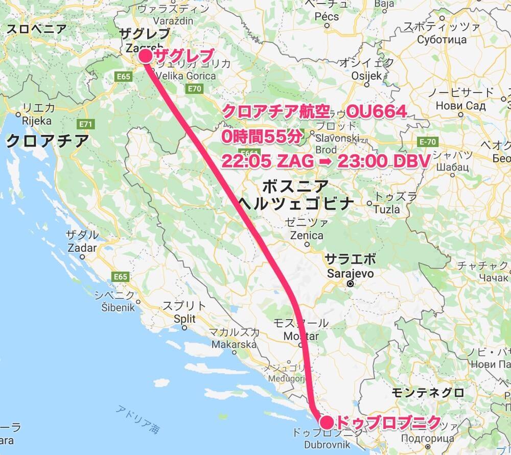 map_ザグレブ〜ドゥブロブニク【バルカン⑤】