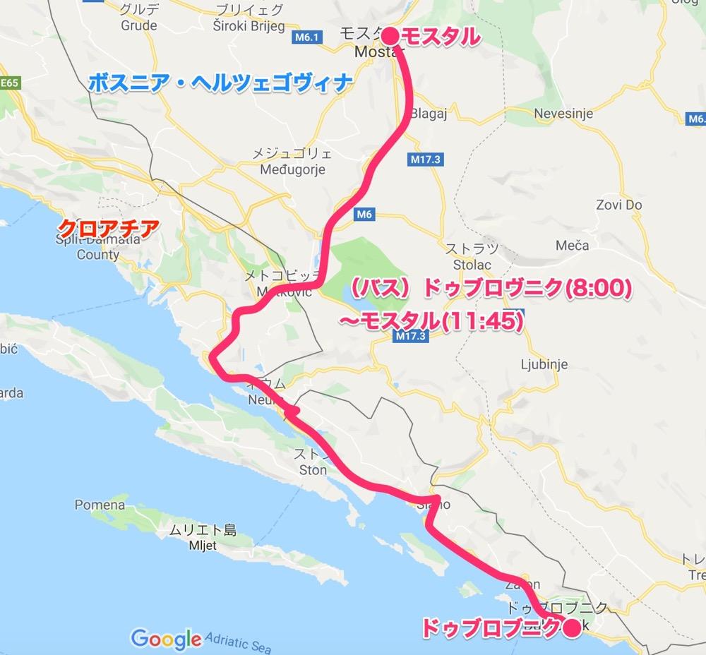 map_ドゥブロブニク〜モスタル【バルカン⑧】