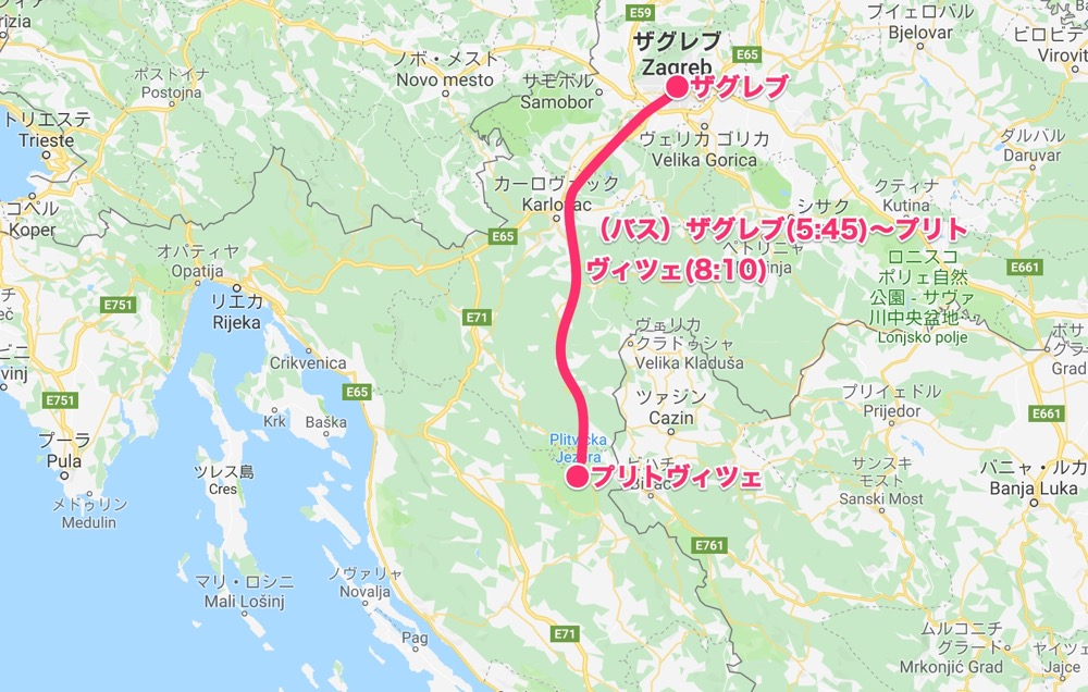 map_ザグレブ〜プリトヴィツェ【バルカン⑤】