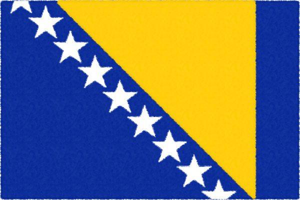 ボスニアヘルツェゴヴィナ国旗【バルカン】
