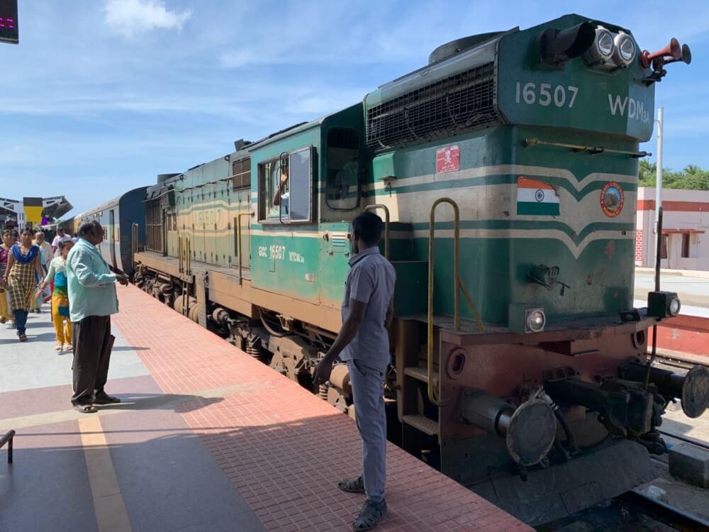 カライクディ〜ラーメシュワラム【南インド(タミル)⑦】【鉄道】