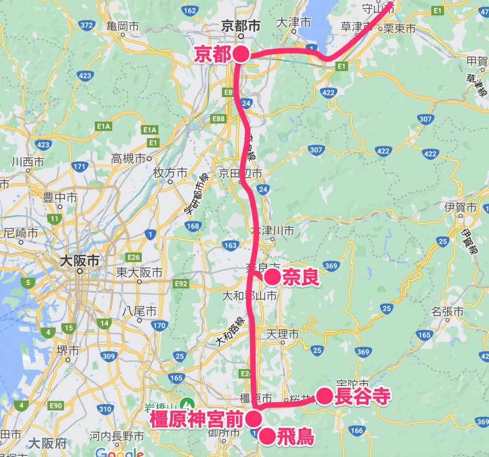奈良・飛鳥旅MAP